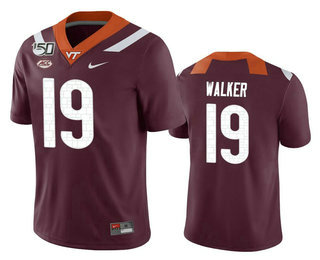 Men's Virginia Tech Hokies #19 J.R. Walker Maroon 150th College Football Nike Jersey