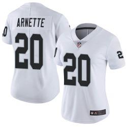 Women's Las Vegas Raiders #20 Damon Arnette Limited White Vapor Untouchable Jersey