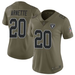 Women's Las Vegas Raiders #20 Damon Arnette Limited Green 2017 Salute to Service Jersey