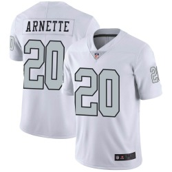 Men's Las Vegas Raiders #20 Damon Arnette Limited White Color Rush Jersey