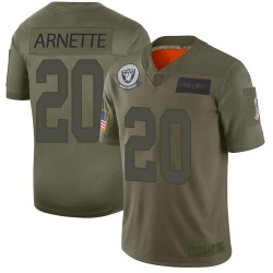 Men's Las Vegas Raiders #20 Damon Arnette Limited Camo 2019 Salute to Service Jersey