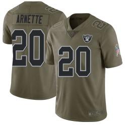 Men's Las Vegas Raiders #20 Damon Arnette Limited Green 2017 Salute to Service Jersey