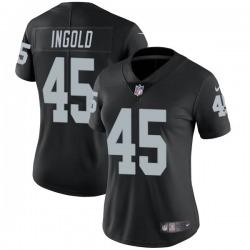 Women's Las Vegas Raiders #45 Alec Ingold Limited Black Team Color Vapor Untouchable Jersey