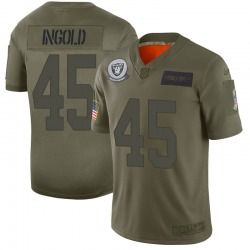 Youth Las Vegas Raiders #45 Alec Ingold Limited Camo 2019 Salute to Service Jersey