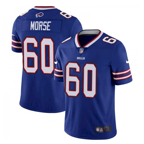 Men's Buffalo Bills #60 Mitch Morse Stitched Vapor Untouchable Limited Blue Jersey