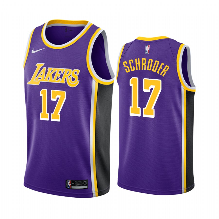 Los Angeles Lakers #17 Dennis Schroder Purple Statement Edition 2020 Transfer 2020-21 Jersey