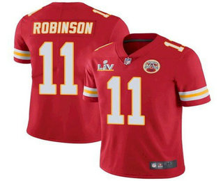 Men's Kansas City Chiefs #11 Demarcus Robinson Red 2021 Super Bowl LV Limited Stitched NFL Jersey