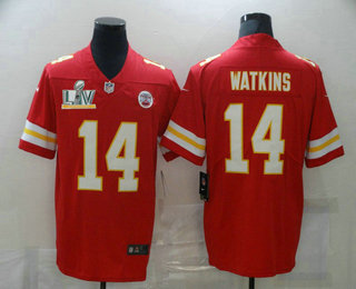Men's Kansas City Chiefs #14 Sammy Watkins Red 2021 Super Bowl LV Vapor Untouchable Stitched Nike Limited NFL Jersey
