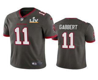 Men's Tampa Bay Buccaneers #11 Blaine Gabbert Grey 2021 Super Bowl LV Limited Stitched NFL Jersey