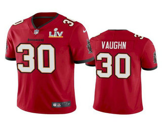 Men's Tampa Bay Buccaneers #30 Ke'Shawn Vaughn Red 2021 Super Bowl LV Limited Stitched NFL Jersey