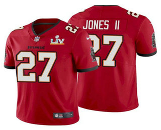 Men's Tampa Bay Buccaneers #27 Ronald Jones II Red 2021 Super Bowl LV Limited Stitched NFL Jersey
