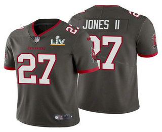 Men's Tampa Bay Buccaneers #27 Ronald Jones II Grey 2021 Super Bowl LV Limited Stitched NFL Jersey