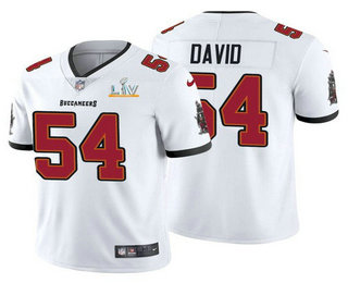 Men's Tampa Bay Buccaneers #54 Lavonte David White 2021 Super Bowl LV Limited Stitched NFL Jersey