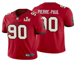 Men's Tampa Bay Buccaneers #90 Jason Pierre-Paul Red 2021 Super Bowl LV Limited Stitched NFL Jersey