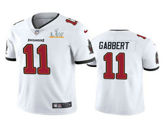 Men's Tampa Bay Buccaneers #11 Blaine Gabbert White 2021 Super Bowl LV Limited Stitched NFL Jersey
