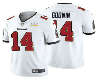 Men's Tampa Bay Buccaneers #14 Chris Godwin White 2021 Super Bowl LV Vapor Untouchable Stitched Nike Limited NFL Jersey