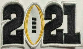 2021 College Football National Championship Game Jersey Black Number Patch