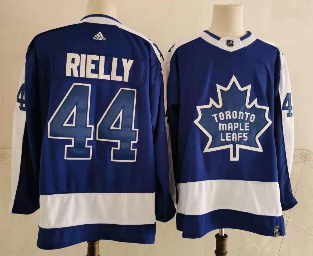 Men's Toronto Maple Leafs #44 Morgan Rielly Royal Blue 2021 Retro Stitched NHL Jersey