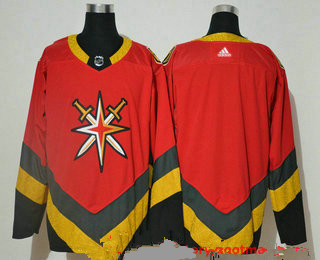 Men's Vegas Golden Knights Blank Red Adidas 2020-21 Alternate Authentic Player NHL Jersey