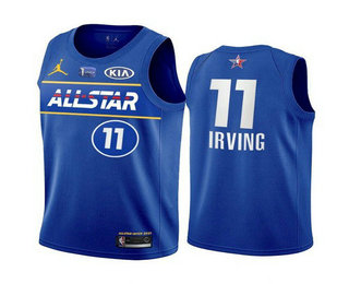 Men's 2021 All-Star #11 Kyrie Irving Blue Eastern Conference Stitched NBA Jersey