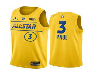 Men's 2021 All-Star #3 Chris Paul Yellow Western Conference Stitched NBA Jersey