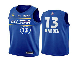 Men's 2021 All-Star #13 James Harden Blue Eastern Conference Stitched NBA Jersey