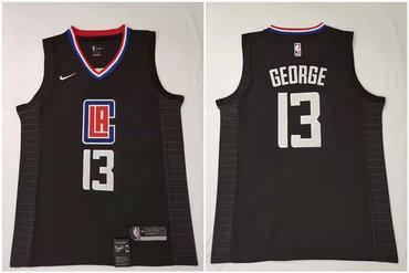 Youth Clippers 13 Paul George Black Nike Swingman Jersey