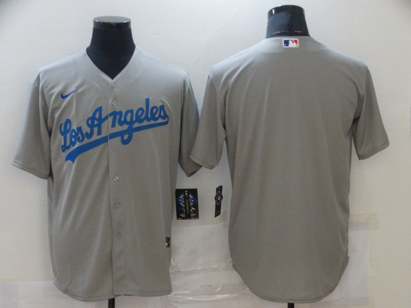 Men Los Angeles Dodgers Blank Grey Game Nike MLB Jerseys