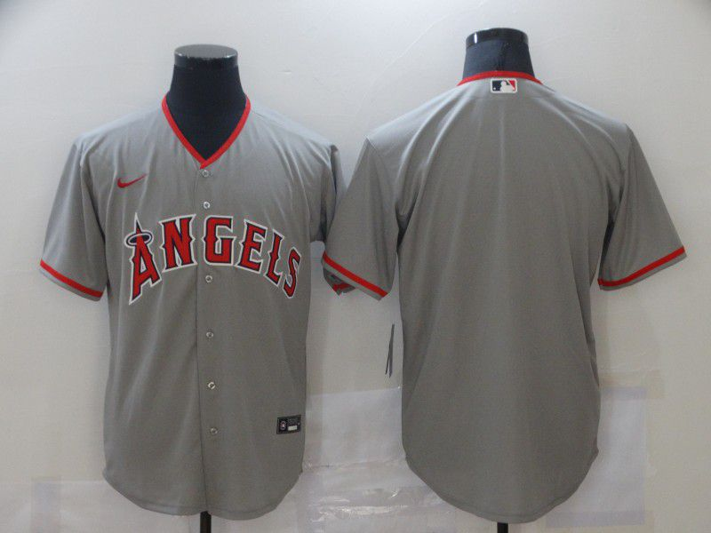 Men Los Angeles Angels Blank Grey Game Nike MLB Jerseys