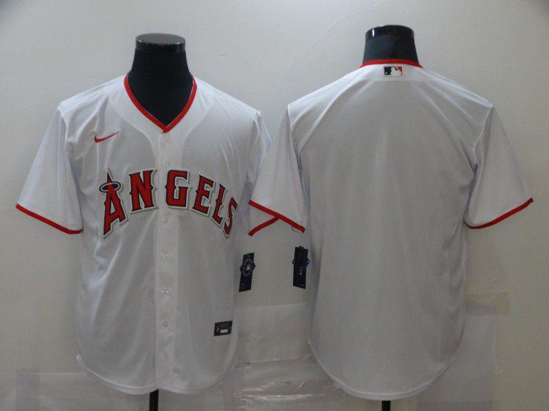 Men Los Angeles Angels Blank White Game Nike MLB Jerseys