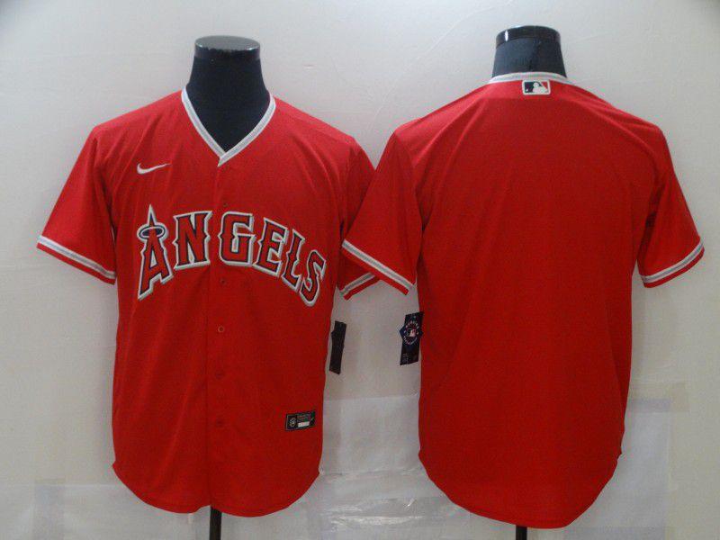 Men Los Angeles Angels Blank Red Game Nike MLB Jerseys