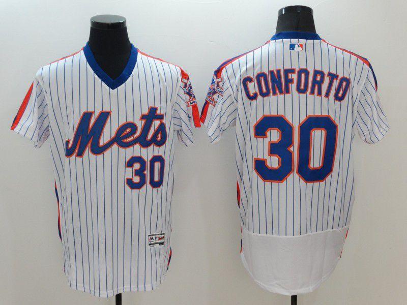Men New York Mets 30 Conforto White Elite MLB Jerseys