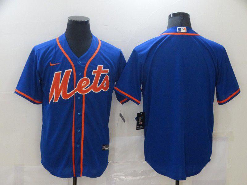 Men New York Mets Blank Blue Game Nike MLB Jerseys