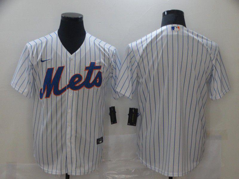 Men New York Mets Blank White Game Nike MLB Jerseys