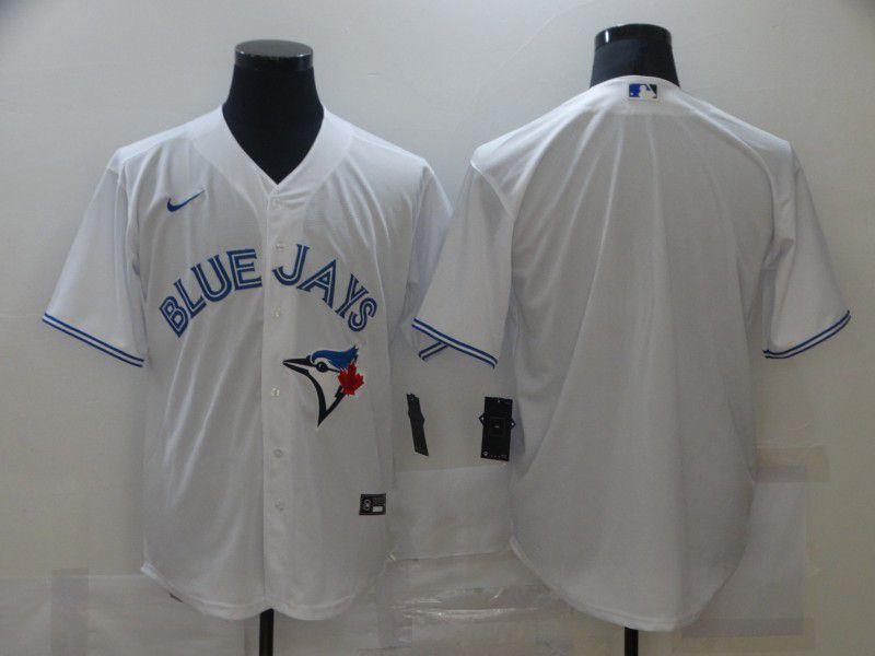 Men Toronto Blue Jays Blank White Game Nike MLB Jerseys