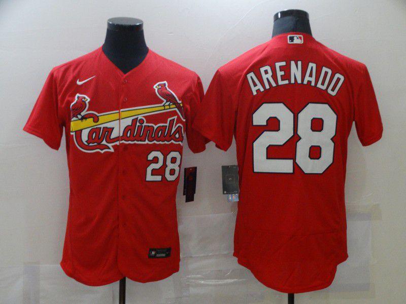 Men St.Louis Cardinals 28 Arenado Red Elite Nike MLB Jerseys