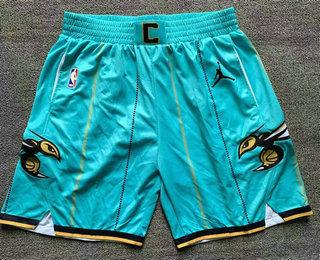 Men's Charlotte Hornets Green 2021 Brand Jordan City Edition Swingman Shorts