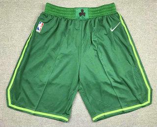 Men's Boston Celtics Green Nike Swingman 2021 Earned Edition Stitched Shorts