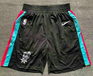 Men's San Antonio Spurs Black 2021 Nike City Edition Swingman Stitched NBA Shorts