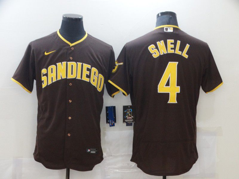 Men San Diego Padres 4 Snell brown Elite 2021 Nike MLB Jersey