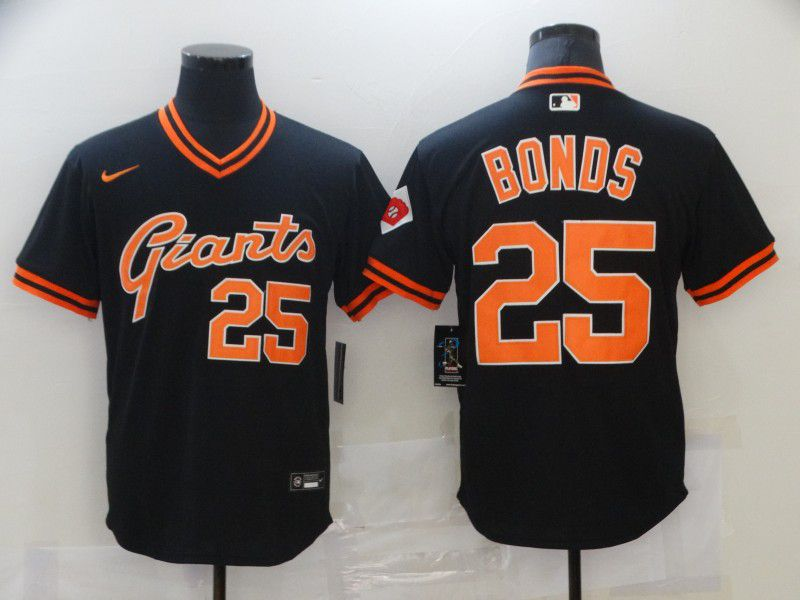 Men San Francisco Giants 25 Bonds Black Game 2021 Nike MLB Jersey