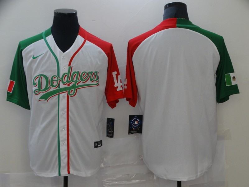 Men's Los Angeles Dodgers Blank White Mexican Heritage Culture Night Nike Jersey