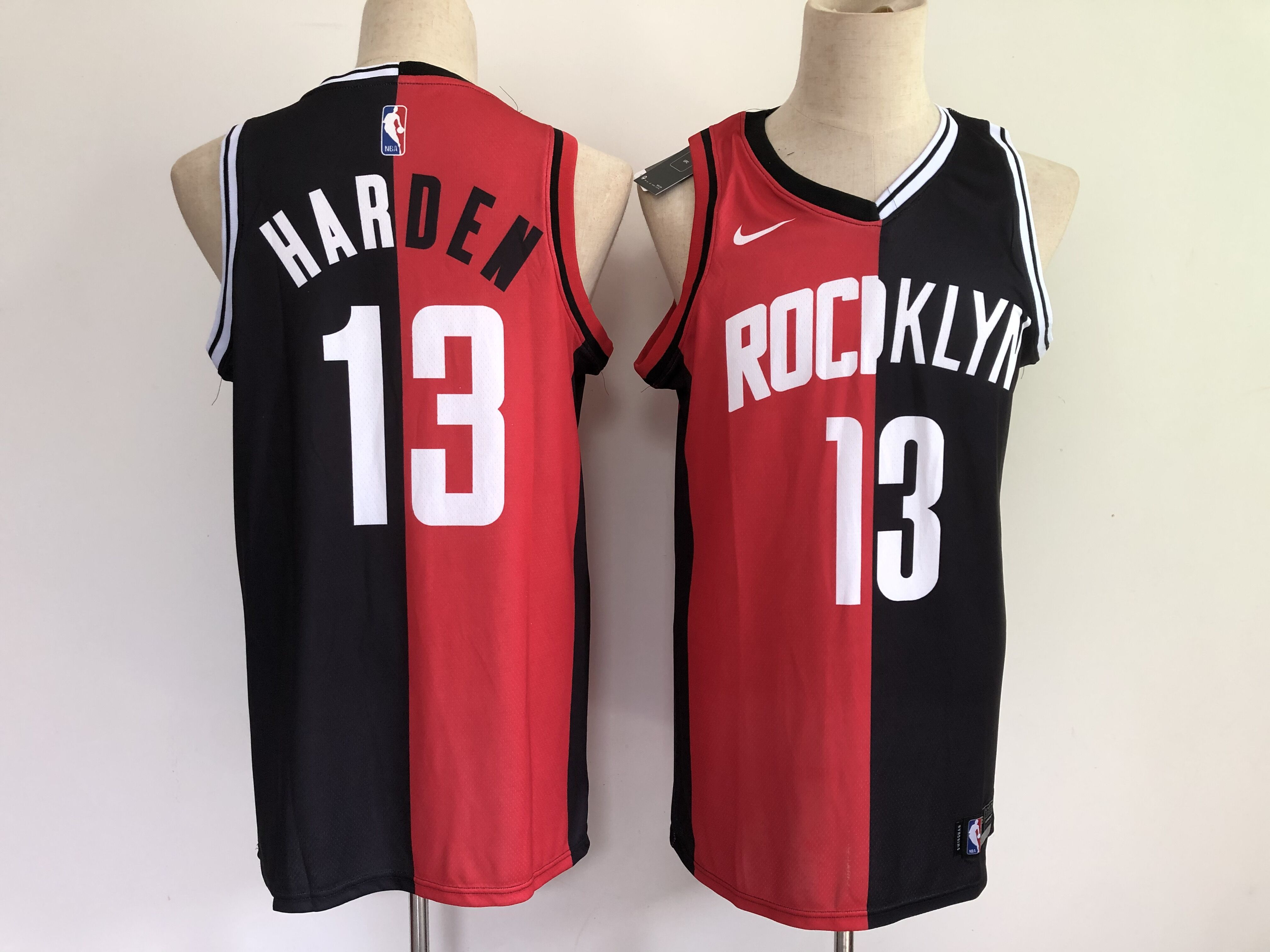 Men Houston Rockets 13 Harden 2021 past and present red black rockets MVP Nike NBA Jersey