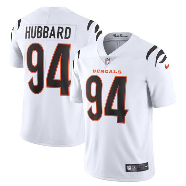 Men's Cincinnati Bengals #94 Sam Hubbard 2021 White Vapor Untouchable Limited Stitched Jersey