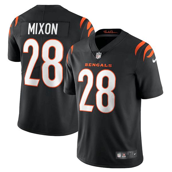 Men's Cincinnati Bengals #28 Joe Mixon 2021 New Black Vapor Untouchable Limited Stitched Jersey