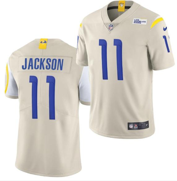 Men's Los Angeles Rams #11 DeSean Jackson 2020 Bone Vapor Untouchable Limited Stitched Jersey