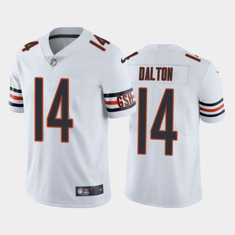 Men's Chicago Bears #14 Andy Dalton White Vapor untouchable Limited Stitched Jersey