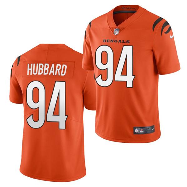 Men's Cincinnati Bengals #94 Sam Hubbard 2021 Orange Vapor Untouchable Limited Stitched Jersey