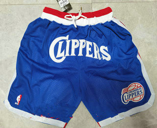 Men's los angeles clippers blue 2020 nike swingman stitched nba shorts