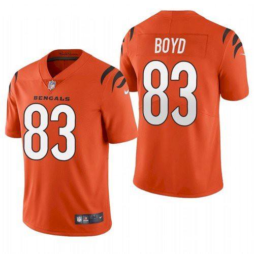 Men's Cincinnati Bengals #83 Tyler Boyd 2021 New Orange Vapor Untouchable Limited Stitched Jersey